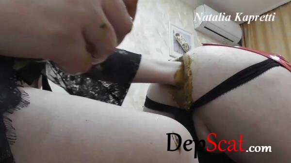 Ass full of cucumbers, it's fun, delicious with Mistress Natalia Kapretti -  [FullHD 1080p/1.04 GB]