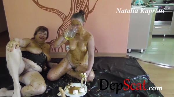 Smelly shitty breakfast for my toilet slut Mistress Natalia Kapretti - Domination, Toys [FullHD 1080p/1.30 GB]