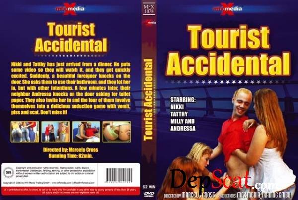 MFX-1078 Tourist Accidental Nikki, Tatthy, Andressa, Milly - Lesbian, Vomit, Domination [SD/348 MB]